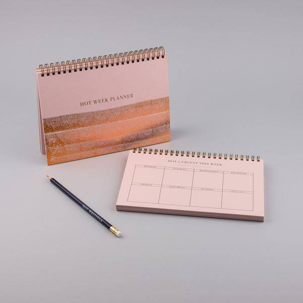 mus weekly planner A5 pink