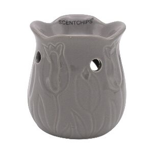 Tulip Grey wax burner ScentBurner
