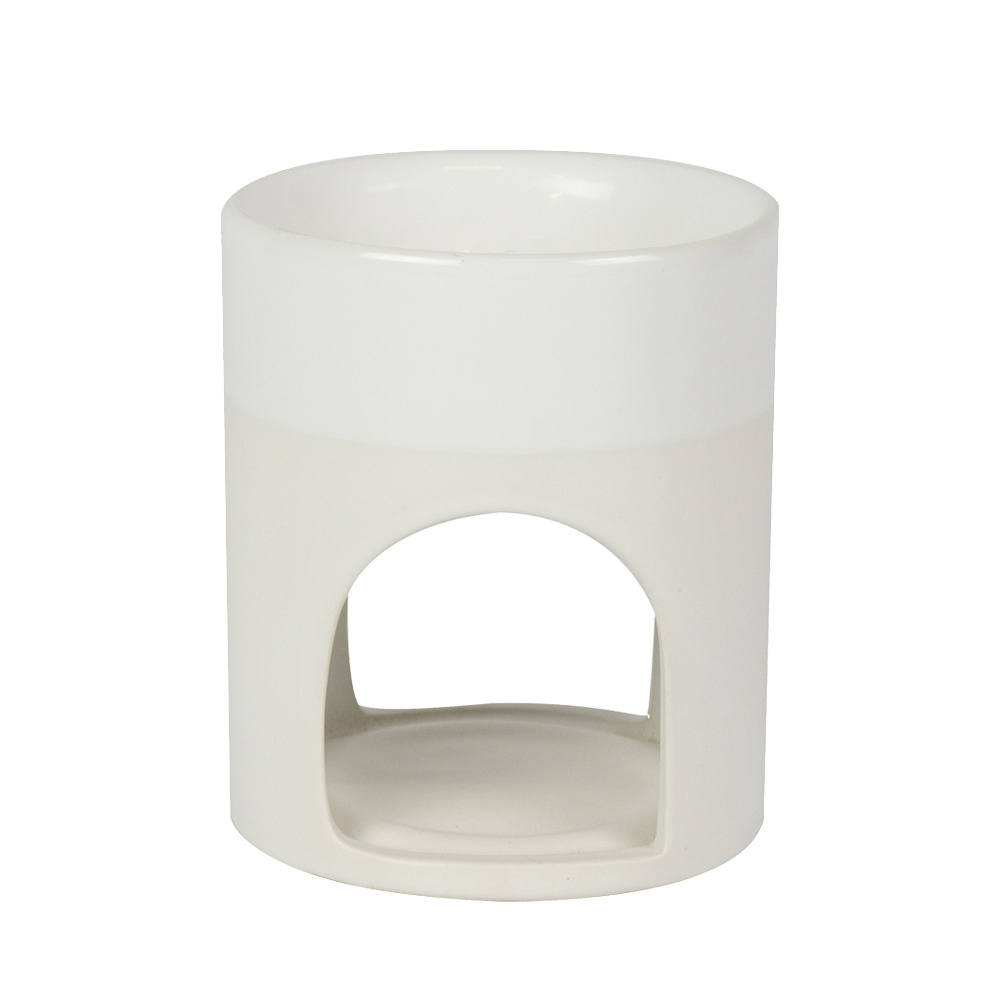 Shiny Duo Matt Pearl White Wax burner-Scentburner
