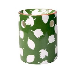 Scentchips® Regular Print Green White Leafs wax burner ScentBurner