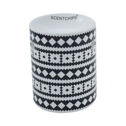 Black and White Aztec Wax burner-Fragrance burner ScentBurners