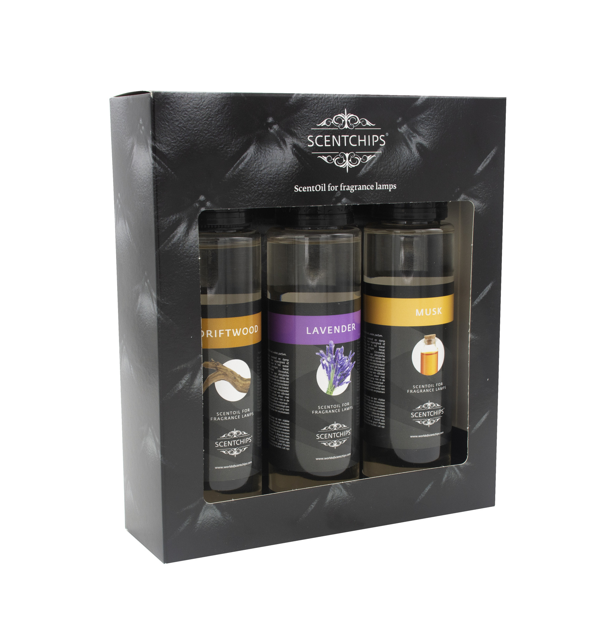 Giftset 3x 200ml-Driftwood-Lavendel-Musk  Cadeauset ScentGifts