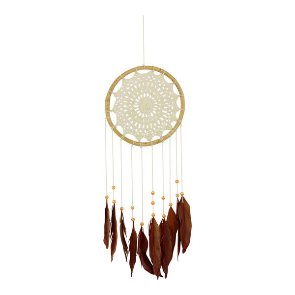 Dromenvanger crochet brown feathers