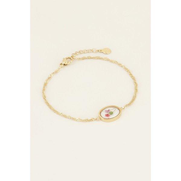 My Jewellery My Jewellery Armband wildflower ovaal