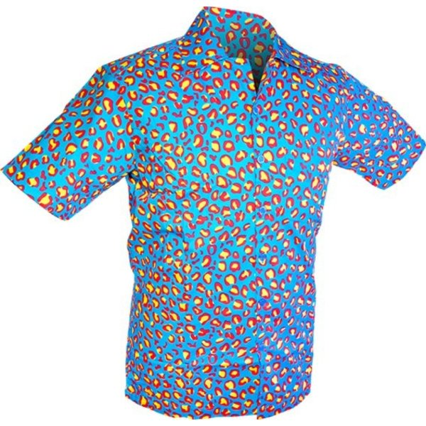 Chenaski Chenaski overhemd korte mouw Strange Coloured Leo