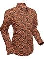 Chenaski Chenaski overhemd Rhombus brown