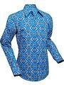 Chenaski Chenaski overhemd Rhombus turquoise
