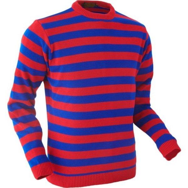 Chenaski Chenaski Trui red and blue stripes