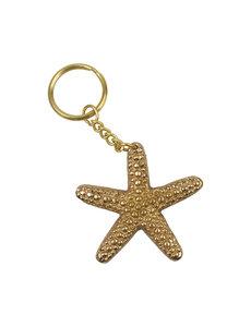 Sleutelhanger Starfish - goudkleurig