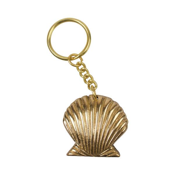 Sleutelhanger Shell - goudkleurig