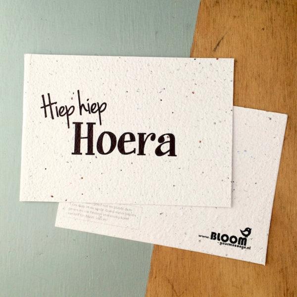 Bloom Your Message Zaaibare kaart - Hiep hiep Hoera (bloemenmix)