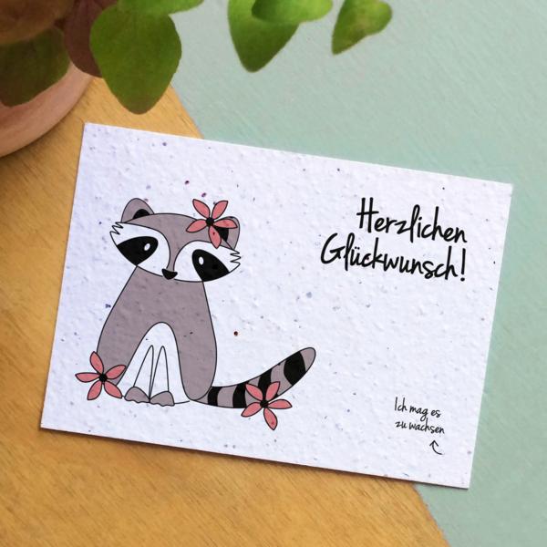 Bloom Your Message Zaaibare kaart - Herzlichen Glückwunsch! (bloemenmix)