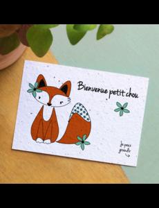 Bloom Your Message Zaaibare kaart - Bienvenue petit chou (bloemenmix)