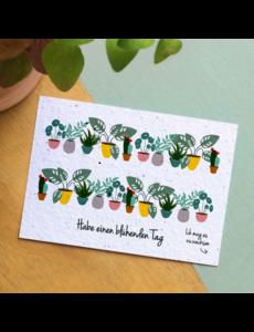 Bloom Your Message Zaaibare kaart - Habe einen blühenden Tag (bloemenmix)