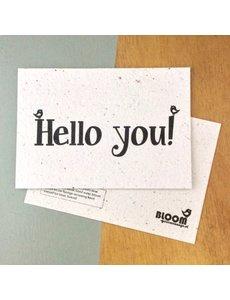 Bloom Your Message Zaaibare kaart - Hello you (bloemenmix)