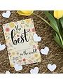 Bloom Your Message Zaaibare kaart met confetti - The Best (bloemenmix)