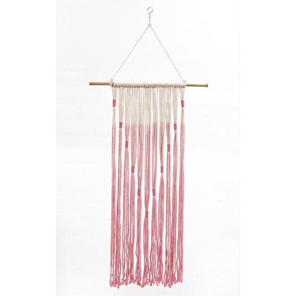 Hanging macrame pink (roze)