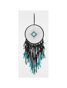 Dromenvanger diamant gehaakt zwart - turquois