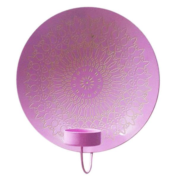 Waxinelichthouder Mandala - raspberry