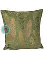 Esperanza Deseo Kussen Boho Feathers olive green kussen 45x45cm