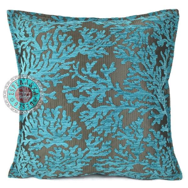 Esperanza Deseo Kussen Coral turquoise 45x45