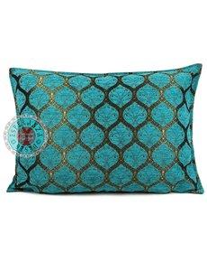Esperanza Deseo Kussen Honingraat Turquoise Tinkleurig 50x70