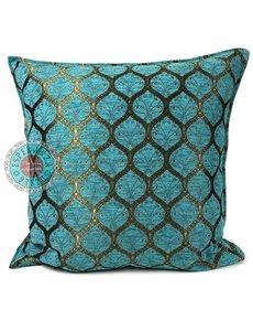 Esperanza Deseo Kussen Honingraat Turquoise bronskleurig 45x45
