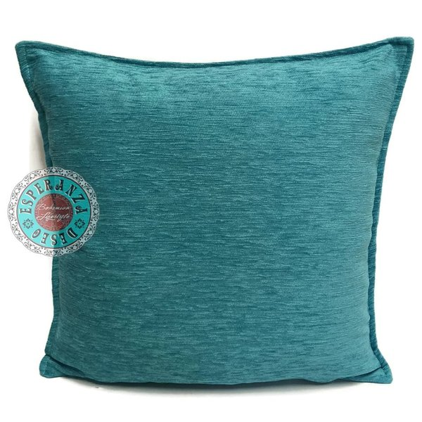 Esperanza Deseo Kussen turquoise 45x45
