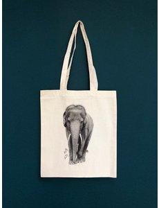 Ferdy Remijn Tote bag - Aziatische olifant - Ferdy Remijn
