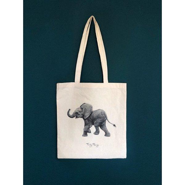 Ferdy Remijn Tote bag - Afrikaans baby olifantje - Ferdy Remijn