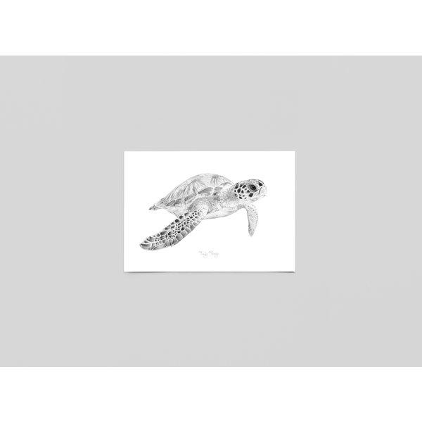 Ferdy Remijn Postkaart Zeeschildpad - Ferdy Remijn