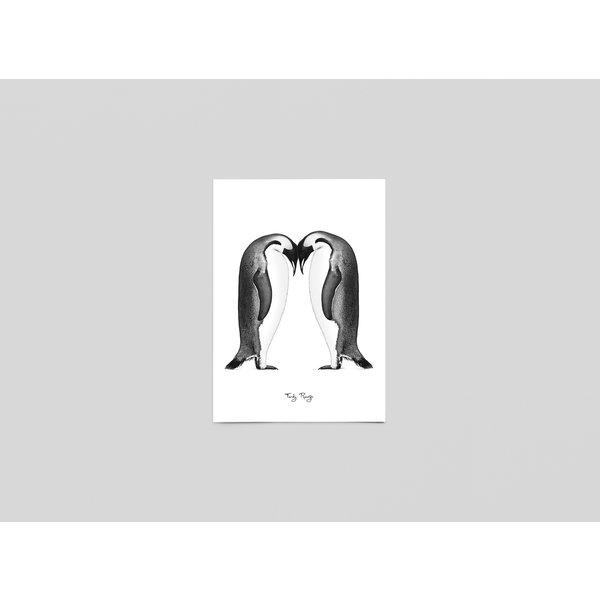 Ferdy Remijn Postkaart Keizer pinguïns - Ferdy Remijn
