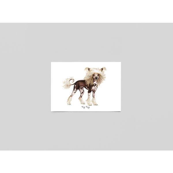Ferdy Remijn Postkaart Chinese naakt hond - Ferdy Remijn