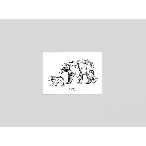 Ferdy Remijn Postkaart Kubisme ijsberen - Ferdy Remijn