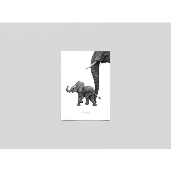 Ferdy Remijn Postkaart Afrikaans baby Olifantje - Ferdy Remijn