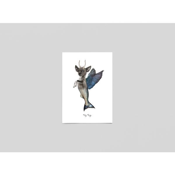 Ferdy Remijn Postkaart Taxidermie fantasie dier - Ferdy Remijn