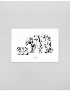Ferdy Remijn A3 Art print Kubisme ijsberen - Ferdy Remijn