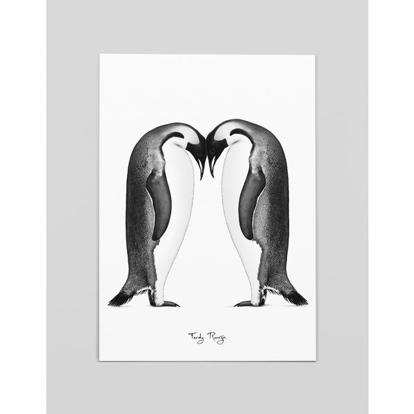 Ferdy Remijn A3 Art print Keizer Pinguïns - Ferdy Remijn