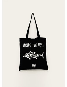 HoudjeBag Tote bag - Inside the fish – zwart