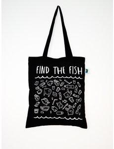 HoudjeBag Tote bag - Find the fish – zwart