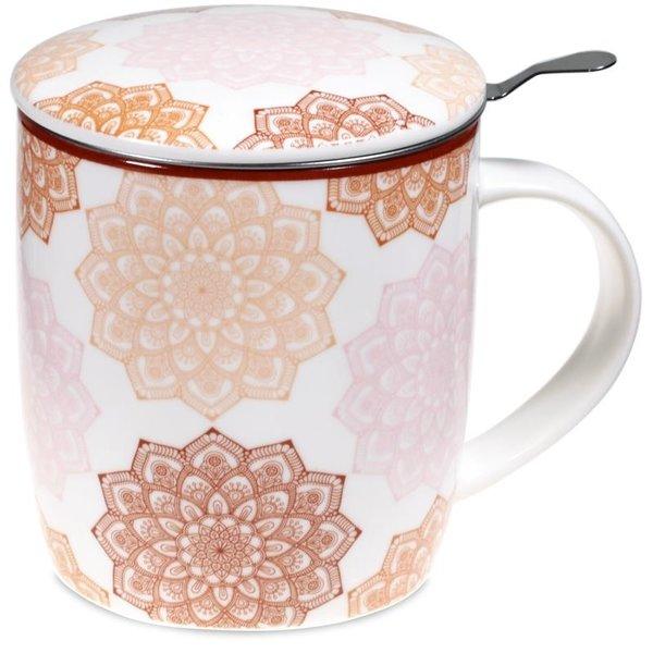 Theemok set Mandala roze - 400 ml