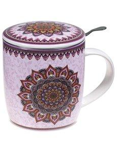 Theemok set Mandala paars - 400 ml