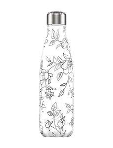 Chilly bottle Line art Flowers - 500ml