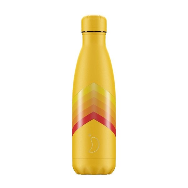 Chilly bottle Retro Yellow Zigzag - 500ml