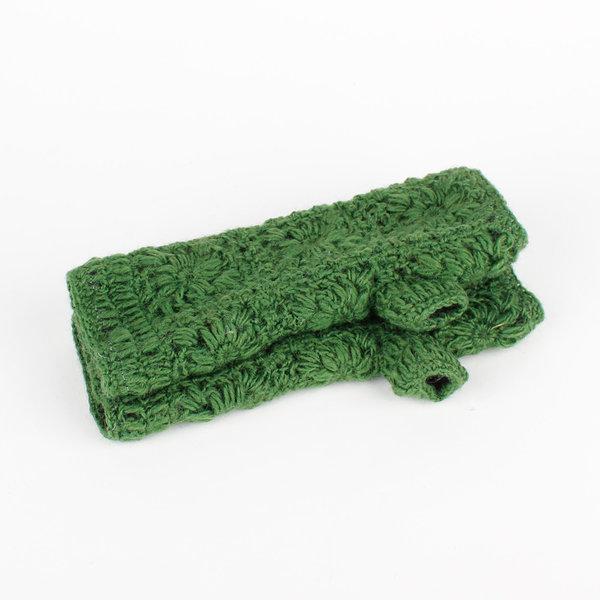 Sjaal met Verhaal Sjaal met  verhaal handwarmers gras groen