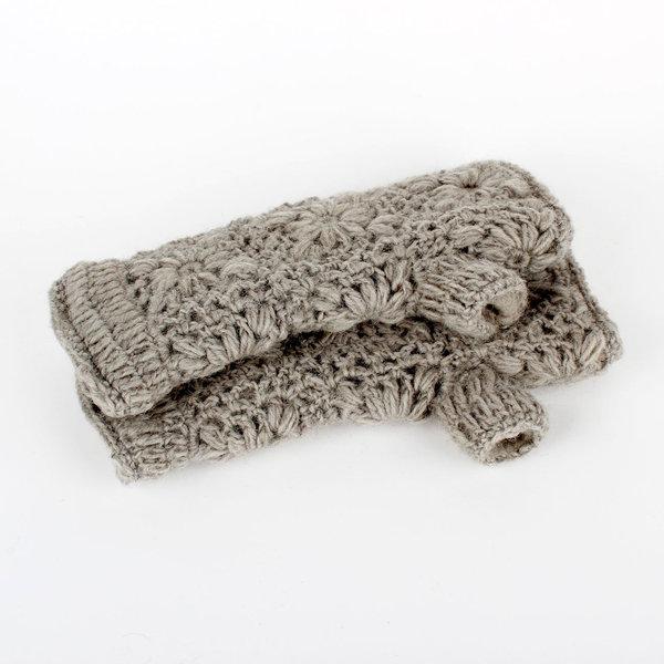 Sjaal met Verhaal Sjaal met  verhaal handwarmers Licht grijs