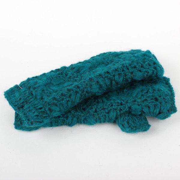 Sjaal met Verhaal Sjaal met  verhaal handwarmers Zeegroen