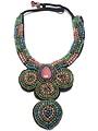 Sjaal met Verhaal Halsketting piece of art multicolor