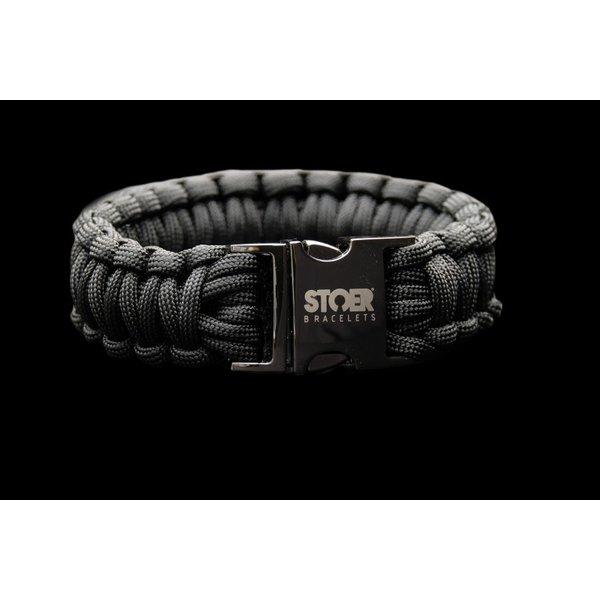 Stoer Armbanden STOER Paracord armband Black Zwart XL