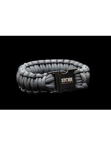 Stoer Armbanden STOER Paracord armband Black Antraciet XL
